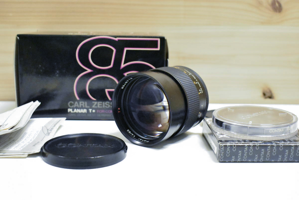 CONTAX Carl Zeiss Planar T* 85mm F1.4 AEG カールツァイス プラナー レンズ