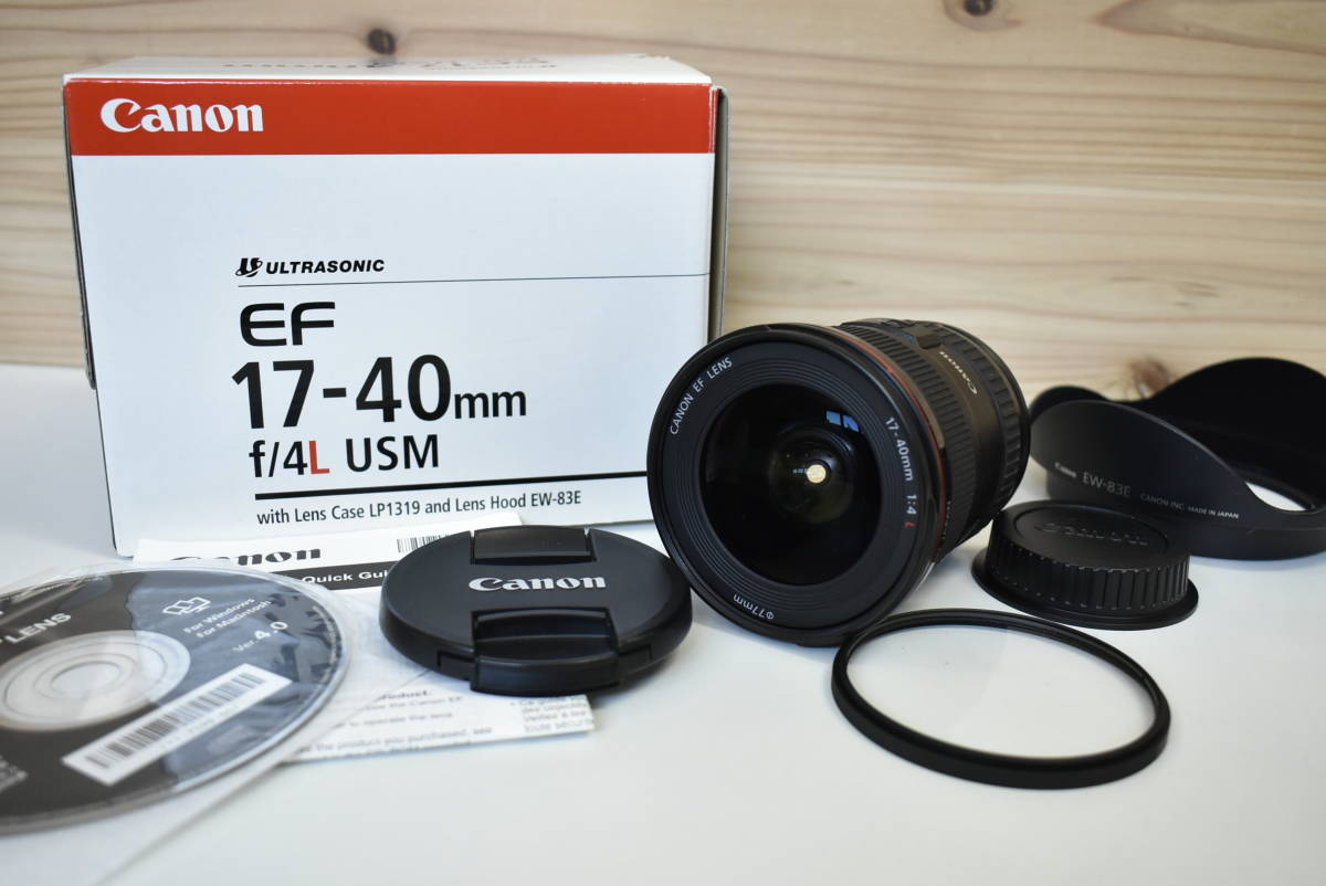 Canon EF 17-40mm F4L USM レンズ